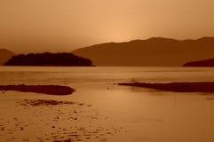 Aube d'îles ioniennes Photos stock