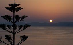 Aube d'Agios Nikolaos Photos stock