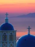 Aube dans Santorini Photographie stock