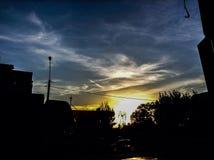 Aube de coucher du soleil Images stock