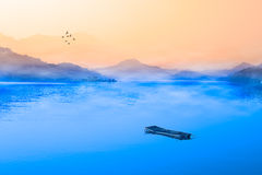 Aube de lac moon de Sun, Nantou, Taiwan Photo libre de droits