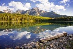 Aube de lac patricia Photographie stock