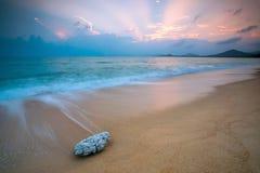 Aube de plage Photographie stock