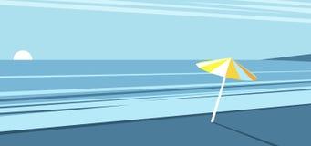 Aube de plage d'été Image libre de droits