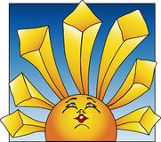 Aube de Sun Image libre de droits