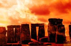Aube du solstice d'hiver Image libre de droits