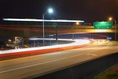 Aube du trafic de banlieusard, route Photos libres de droits