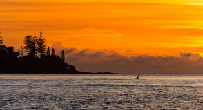 Aube kayaking Image libre de droits