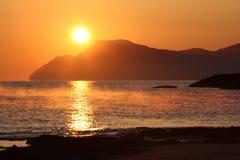 Aube sur Majorca Photo stock