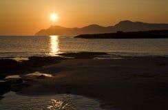 Aube sur Majorca Images stock