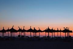 Aube sur une plage Image stock