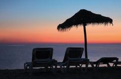Aube sur une plage Image libre de droits