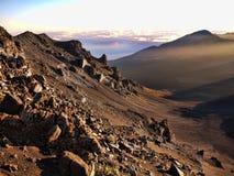 Aube volcanique Photo stock