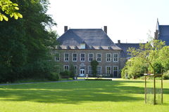 AUBEL, BELGIQUE - 24 mai 2017 : Abbaye de Val-Dieu Image libre de droits
