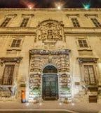 Auberge d'Italie在瓦莱塔,马耳他 免版税库存照片