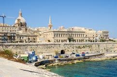 Auberge de Baviere ou Palazzo Carniero em Valletta fotos de stock