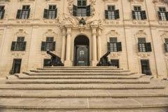Auberge de Castille在马耳他的瓦莱塔 免版税库存图片