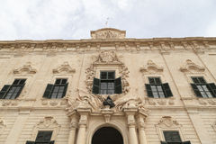 Auberge de Castille in capital of Malta - Valletta, Europe Royalty Free Stock Images