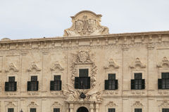 Auberge de Castille in capital of Malta - Valletta, Europe Royalty Free Stock Photos