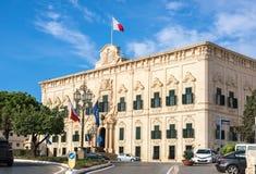 Auberge de Castille et Leon palace. The Prime Minister office. V. View of Auberge de Castille et Leon palace. The Prime Minister office. Valletta, Malta Stock Photos