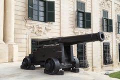 Auberge DE Castille in hoofdstad van Malta - Valletta, Europa Royalty-vrije Stock Afbeelding