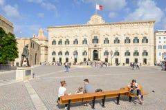 Auberge de Castille Le Premier Ministre cabinet Valletta, Malte photos libres de droits