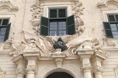 Auberge de Castille nella capitale di Malta - La Valletta, Europa Fotografia Stock Libera da Diritti