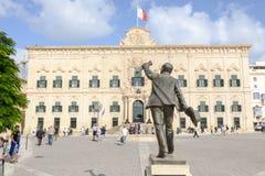 Auberge de Castille. The Prime Minister office. Valletta, Malta. Stock Photo