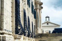 Auberge de Castille - uno del ` s di La Valletta la maggior parte delle costruzioni magnifiche, La Valletta, Malta fotografia stock