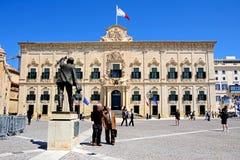Auberge de Castille, Valletta fotografie stock