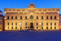 Valletta. Auberge de Castille. Auberge de Castille in Valletta at dawn. Malta Royalty Free Stock Image
