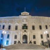 Auberge DE Castille in Valletta, Malta Stock Afbeeldingen