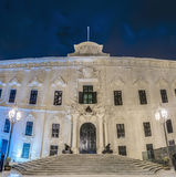 The Auberge de Castille in Valletta, Malta. The Auberge de Castille houses the office of the Prime Minister of Malta in Valletta Stock Images