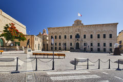 Auberge de Castille, Valletta, Malta. The auberge is located in Castille Square, close to Saint James Cavalier, the Malta Stock Exchange and the Upper Barrakka Stock Image