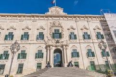 Auberge De Castille w Valletta, Malta Zdjęcie Stock