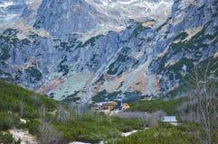 Auberge en montagnes Photo libre de droits