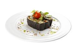 Aubergine зажаренный с овощами Вегетарианское блюдо стоковая фотография rf