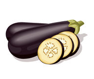 aubergine зрелый Стоковое Изображение RF