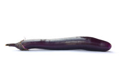 Aubergine. On white background with clipping path Royalty Free Stock Photography