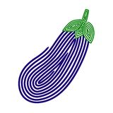 aubergine vektor abbildung
