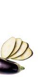 Aubergine auf der wihte Tabelle stockfoto