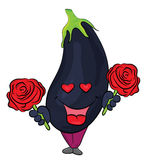 Aubergine cartoon character Royalty Free Stock Images
