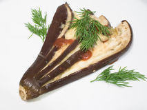 Aubergine with cheese Stock Photography