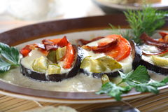 Aubergine with cheese Royalty Free Stock Photo