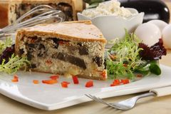 Aubergine And Cheese Quiche Royalty Free Stock Photography