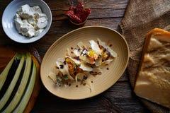 Aubergine and cheese recipe italian food Royalty Free Stock Photos