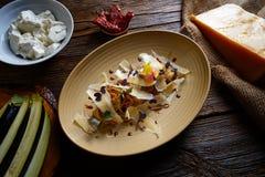 Aubergine and cheese recipe italian food Royalty Free Stock Image