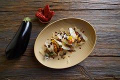 Aubergine and cheese recipe italian food Stock Photography
