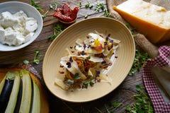 Aubergine and cheese recipe italian food Stock Photos