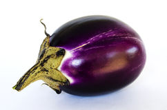 Aubergine with clipping path Stock Photography